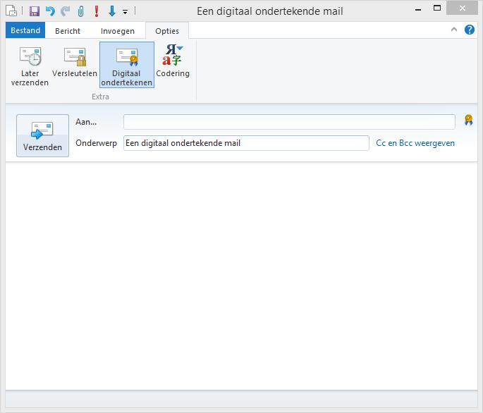 Digitaal ondertekenen van een mail in Windows Live Mail