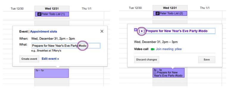 Zo werkt HashtagTodo: voeg #todo toe en vink een taak af door een x te zetten