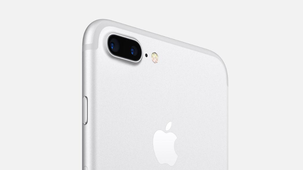 De twee modules van de iPhone 7 Plus steken ook uit.