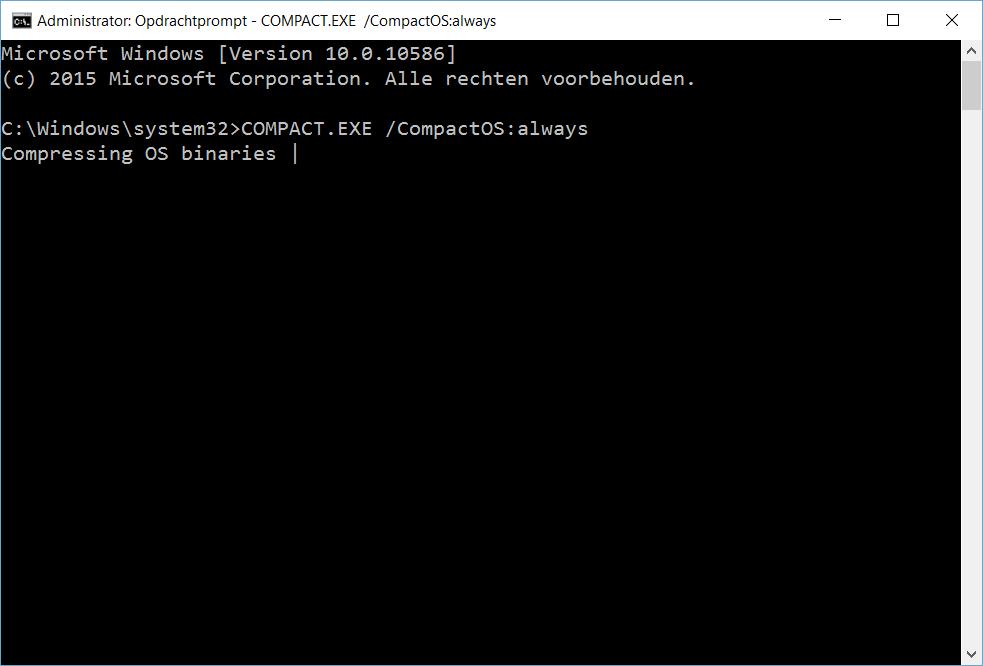 Windows-map samenpersen cmd.exe