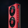 Officiële render van een AMD Radeon-videokaart.