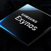 Promotionele render van een Samsung Exynos system-on-a-chip (SoC).