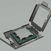 3D-afbeelding van de vermeende nieuwe AM5-socket van AMD.