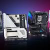 Promo-afbeelding van meerdere Intel Z590-moederborden van Asus.
