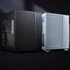 Productafbeelding van de Lian Li O11 Air Mini-behuizing in zowel zwart als wit.
