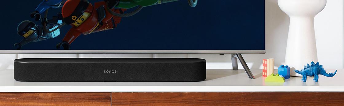 Afbeelding van soundbar aangesloten op een TV