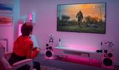 Sfeerafbeelding van een gamingtelevisie van LG in gebruik.