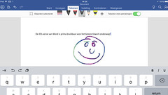 Word is onder iOS op de iPad uitstekend bruikbaar
