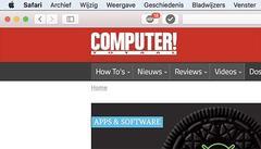 Safari is zowel in een macOS als iOS-versie beschikbaar