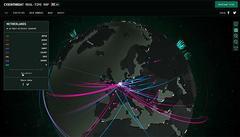 Deze flitsende kaart van Kaspersky laat cyberattacks en virussen zien