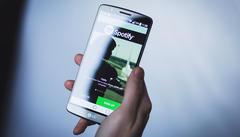 Foto van spotify op de smartphone