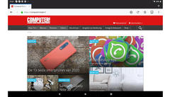 Firefox onder Android in actie.