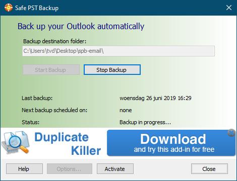 Safe PST Backup