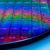 Sfeerbeeld van Intel, waarop een hele printplaat van hun nieuwe processor-procedé te zien is.