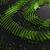Gestileerde versie van het logo van Nvidia, opgebouwd uit allerlei glazen paneeltjes.