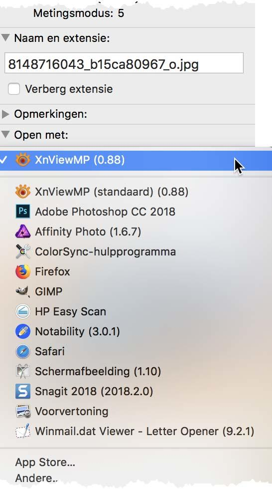 Pas het standaard aan een bestandsformaat gekoppelde programma in macOS aan