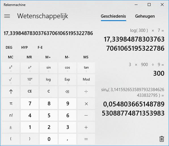 Windows 10-rekenmachine