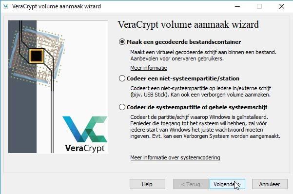 Met VeraCrypt is versleutelen van bestanden vrij eenvoudig