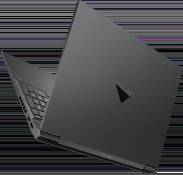 Promotionele render van de achterzijde van de eerste Victus-laptop van HP.