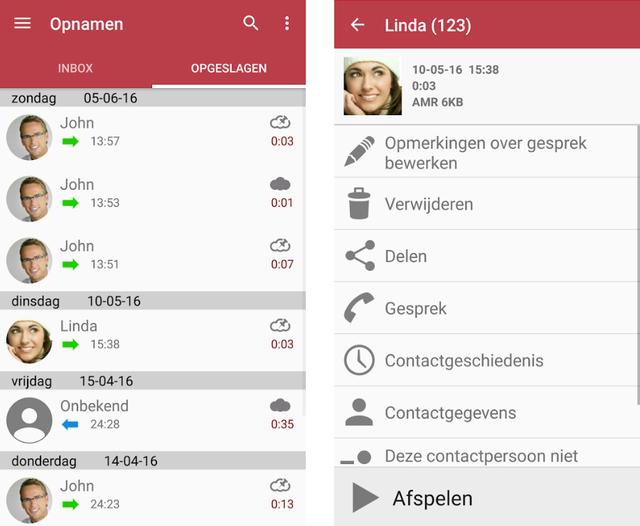 Gesprekken opnemen op Android