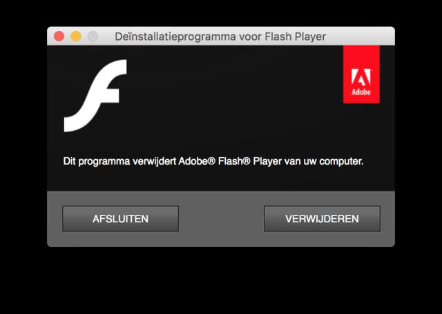 Flash verwijderen