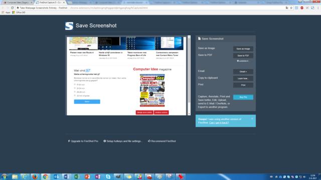 Windows-screenshot maken met FireShot