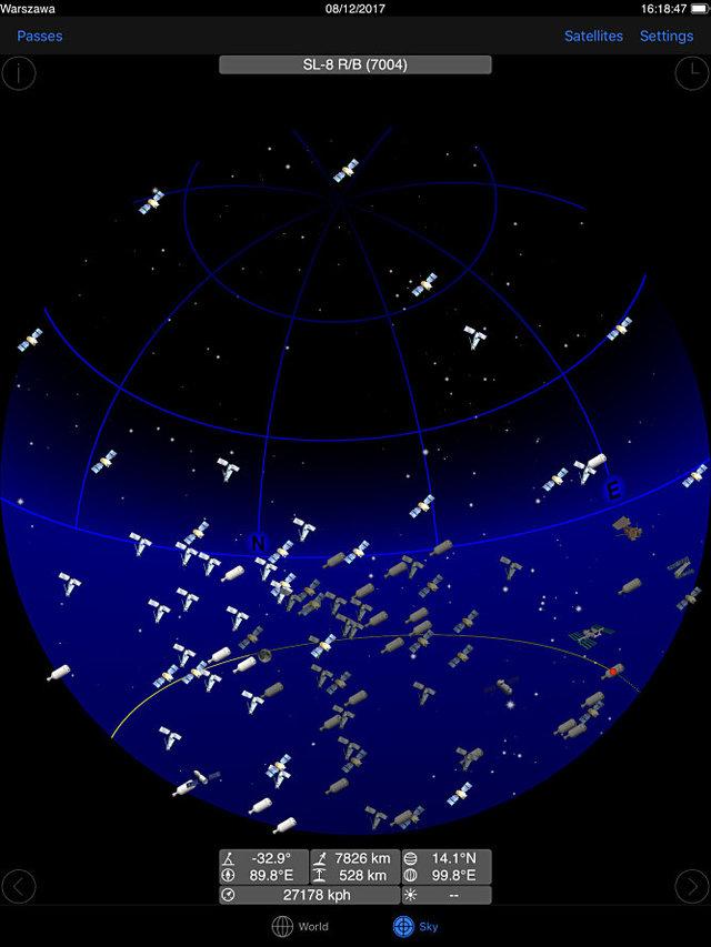 Met GoSatWatch vind je satellieten ook in AR-modus