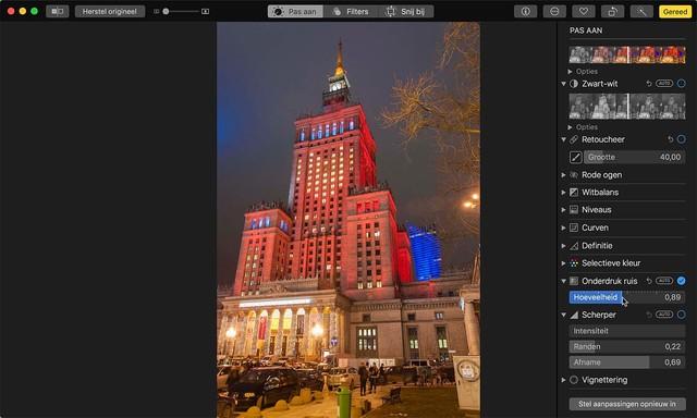 Verwijder ruis van foto's die bij mindere lichtomstandigheden gemaakt zijn