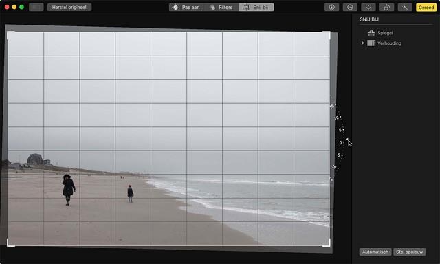Zet een scheve horizon snel recht in Foto's