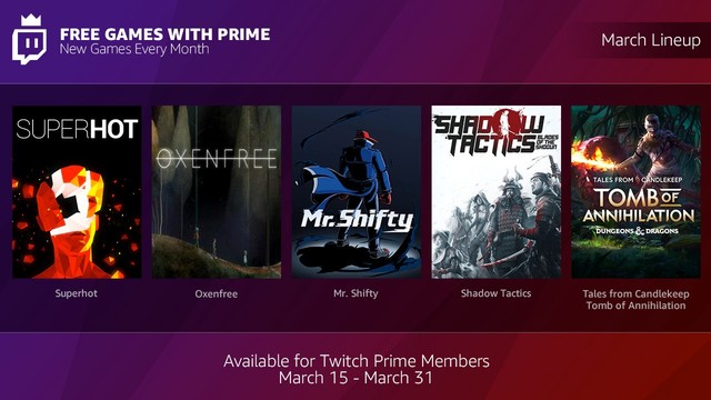 Twitch Prime-games