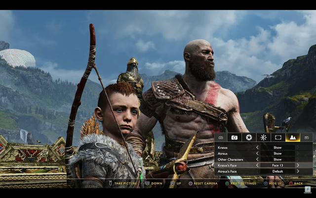 God of War kratos foto-modus duck face