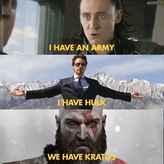 kratos avengers wtf meme