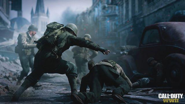 Scène uit Call of Duty WW2
