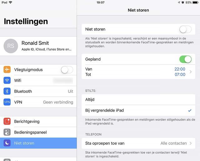 Zo kun je meldingen onder iOS gedurende de nachtelijke uren onderdrukken