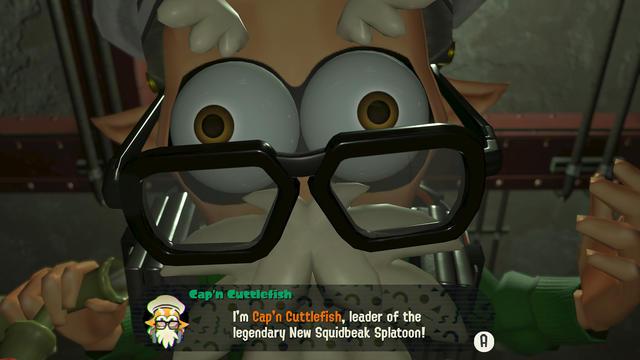 Captain Cuttlefish Splatoon octo expansion