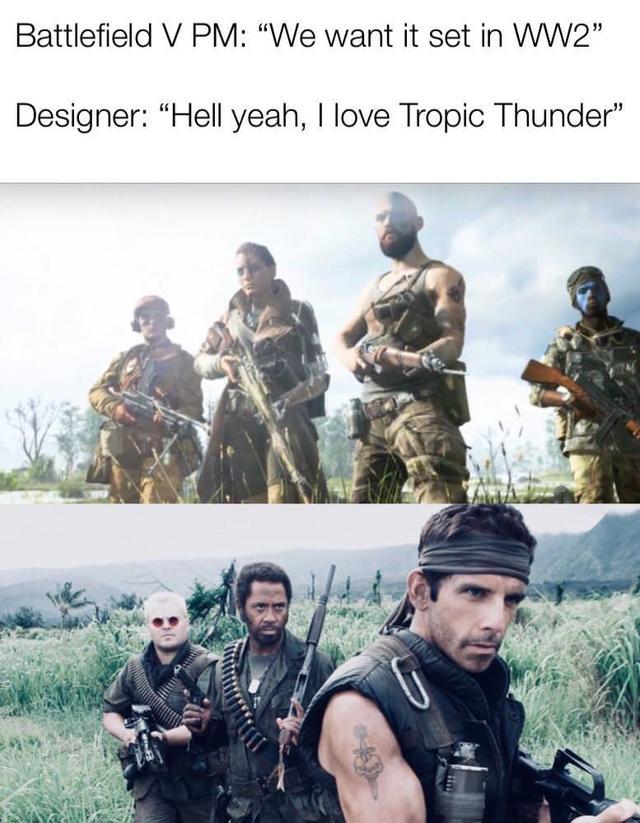 Tropic Thunder Battlefield V