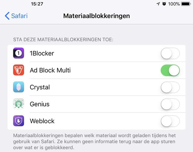 Zo activeer je een adblocker in Safari