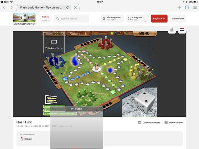 Puffin kent een virtuele muiscursior die je aanstuurt via een al even virtuele trackpad