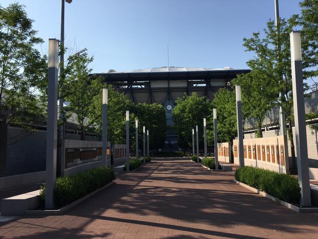 Het stadion waar de US Open gespeeld wordt