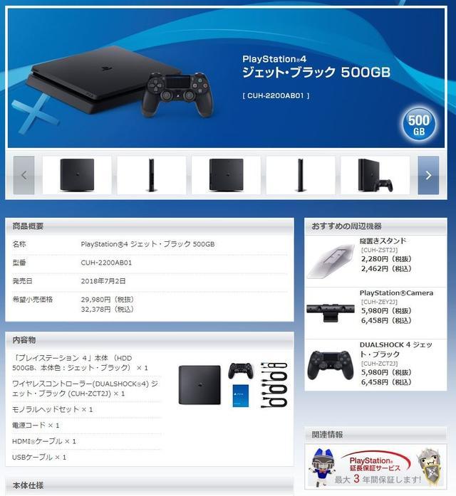Screenshot PS4 model