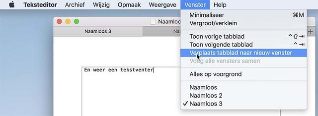 Zo zet je een tablad weer om naar een venster in macOS