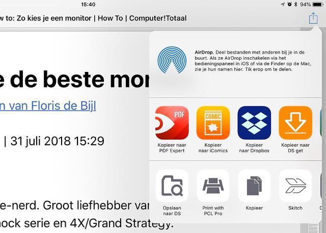Maak eens een pdf met iOS AirPrint