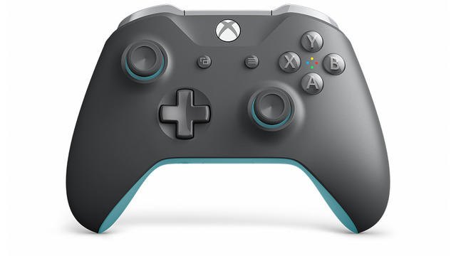 Xbox One Controller Grey/Blue front