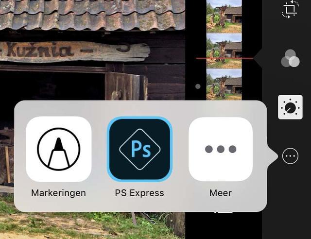 Ook externe apps zijn bereikbaar vanuit Foto's zelf