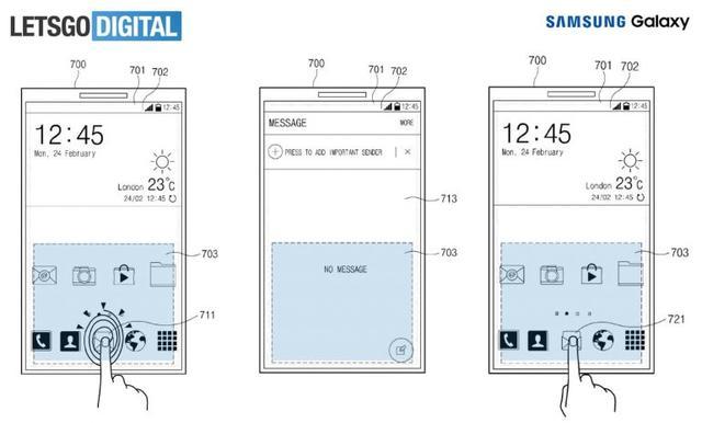 Samsung Galaxy patent vingerafdrukscanner