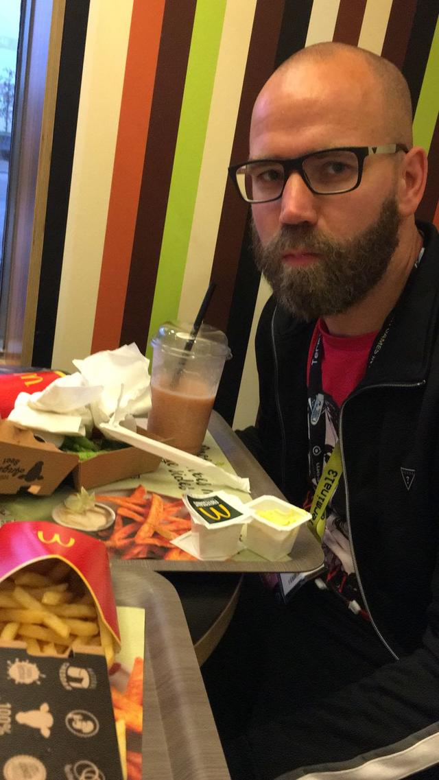Wouter Brugge is dol op McDonalds