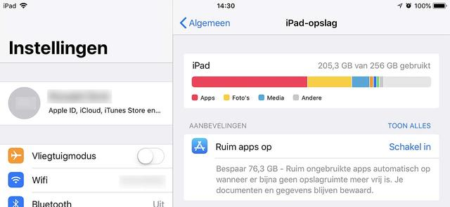 Maak snel ruimte vrij op je i-device voor de upgrade naar iOS 12