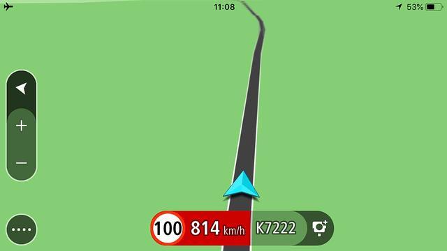 De GPS-ontvanger werkt op bijvoorbeeld een iPhone voorzien van een recent iOS