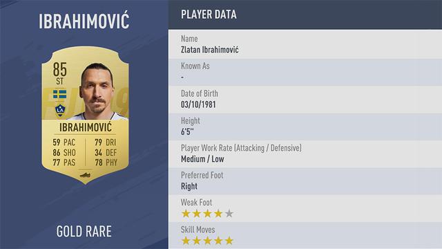 Ibrahimović Fifa 19 Ultimate Team