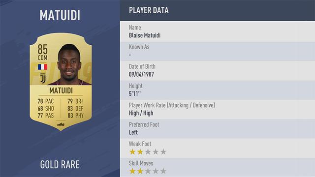 Matuidi Fifa 19 Ultimate Team